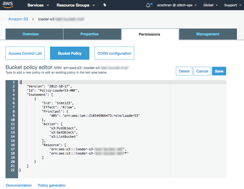 Connecting an Amazon S3 Destination to Stitch | Stitch Documentation
