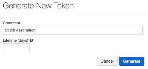 The Generate New Token window in Databricks